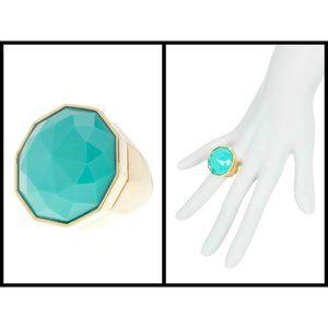 TRINA TURK Faceted Stone Cocktail Ring - Size 8